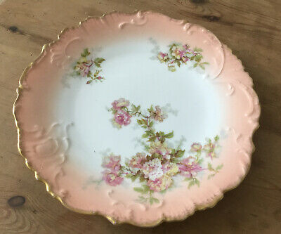 J C Limoges Plate Roses Antique Gorgeous • 20£