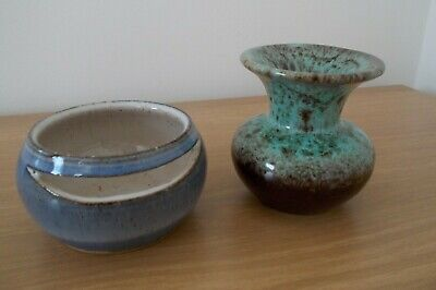 Small Pottery Pots One Marked Broadway And One Foreign. Please Read Description • 4£