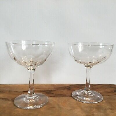 Vintage Crystal Champagne Coupes X 2  • 18£