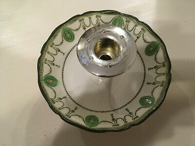 Doulton Countess Tapered Candlestick Holder Green Pattern • 5£