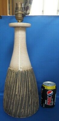 Poole Pottery 16 Inch High ATLANTIS LAMPBASE  By ALAN WHITE With Fittings • 50£