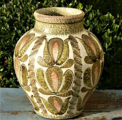 Denby Studio Pottery Vase Abstract Design Glyn Colledge 9  Mid Century Modern • 37.99£