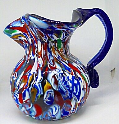 Authentic Victorian End Of Day Dump Glass Frigger Large Jug With Millefiori. !!! • 9.99£