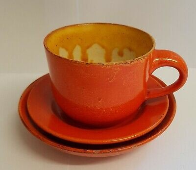 Uranium Glaze Trio Cup Saucer Small Plate Wesuma ? Fishley Holland Weston-s-mare • 29.99£