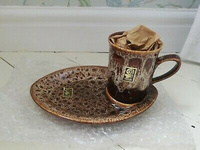 Fosters Pottery Cornwall South West Cup And Plate • 15£