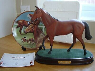 Red Rum Race Horse - Plate And Model On Plinth • 8.50£