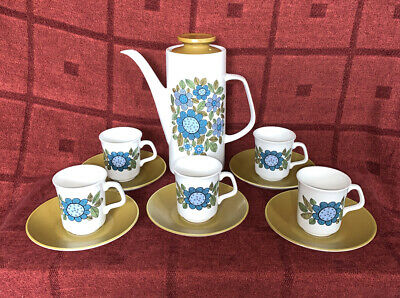 Vintage J & G Meakin 'Topic' Coffee Set, 11 Pieces • 15£
