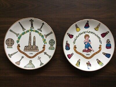 2 X W H Goss Collectors Annual Plate 1983 1986 • 11.99£