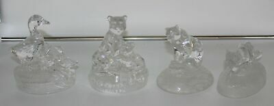 X4 Vintage Transparent Glass Animal Ornaments ##OAFB172 • 9.99£