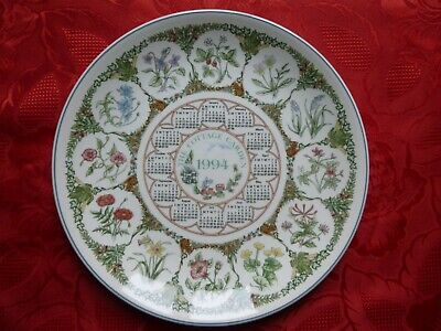 Wedgwood 1994 Calendar Plate ~  The Cottage Garden  ~ With Original Box • 1.80£