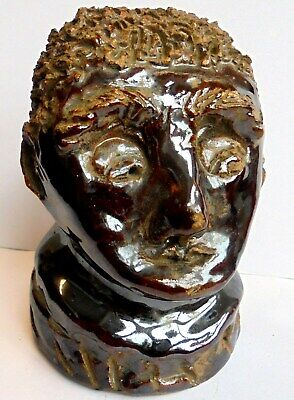 Antique 1840s Treacle Glaze Stoneware Pottery Head Dug Off A Early Tip In London • 14.99£