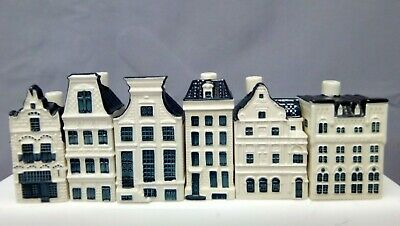 Collection Of Blue Delft's China Houses KLM By BOLS X 6   • 29£