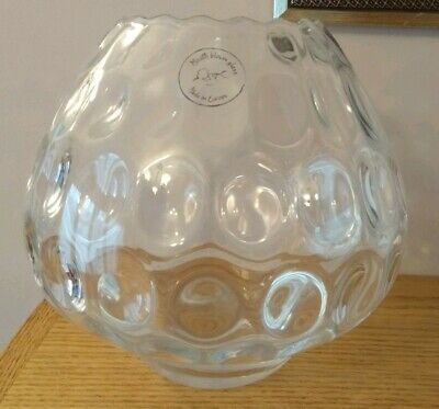 Large Borske Sklo Clear Glass Hand Blown Vase Excellent Condition Great Gift!! • 25£