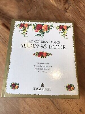 Rare Royal Albert Old Country Roses Address Book Vintage Unused • 6.99£