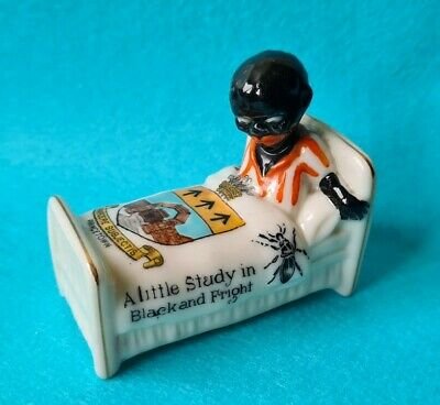 Scarce Arcadian Crested China Black Boy In A Bed.  • 39.99£