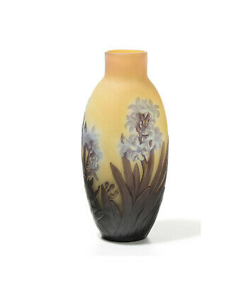 Authentic Emile Galle' Vase. Decorated With Hyacinths. End 1800. Beautiful !! • 2,309£