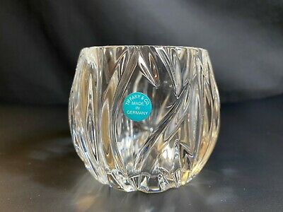 Tiffany & Co Crystal Rock Cut Glass Votive Candle Holder • 20£
