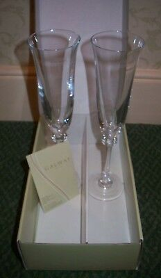 Galway Irish Crystal Liberty Champagne Flute - Pair - New - Boxed • 20£