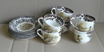 Palissy Game Series X6 Tea Cups And Saucers Set • 10£