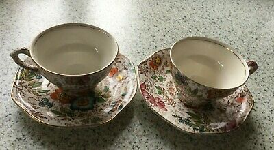 Vintage James Kent 2 Cups And Saucers • 8£