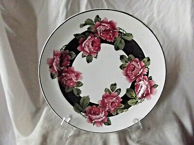 Antique Original Robert Heron & Sons Wemyss ? Large Plate With Rose Design • 90£