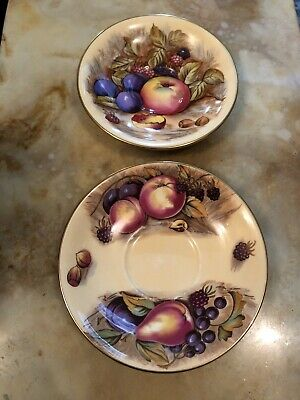 Two Aynsley Orchard Gold Saucers • 14.99£