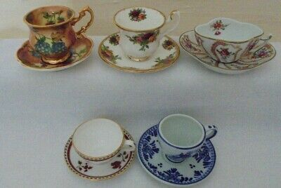 Pretty Miniature Cabinet Cup & Saucer Collection For Your Individual Selection • 12£