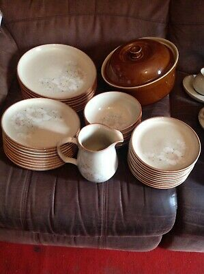 Large Quantity Of Denby Daybreak Dinner / Teaset 43 Pieces In Total • 60£