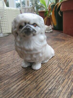 Branksome China White Pekingese • 10£