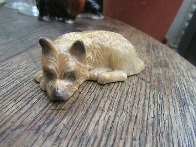 Branksome China Fawn Brown Cairn Terrier Hand Painted Inlay Colour • 10£