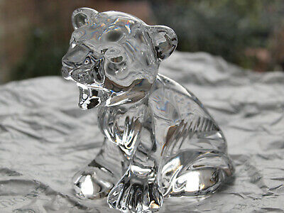 Waterford Crystal Lion Cub Figurine Mint Made In Ireland • 45£