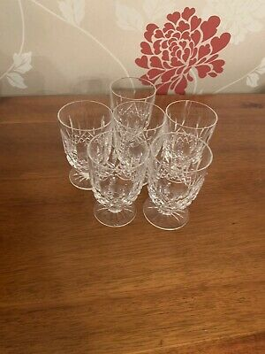 6 X Waterford Crystal Short Stem Water Goblets • 60£