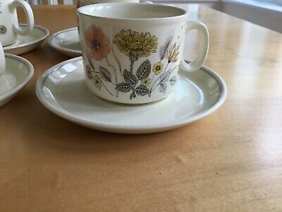 J&g Meakin Trend- Hedgerow Set Of 8 Cups And Saucers, • 16£