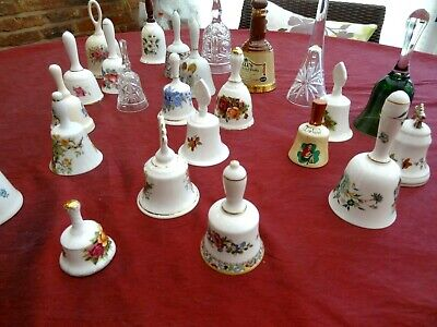 Collection / Joblot Of Ceramic / Glass Bells • 45£