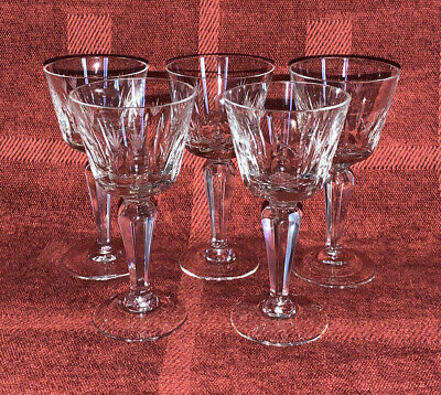 5 Sherry / Port Glasses Decorated Grass? 10.5cm Tall • 3.50£
