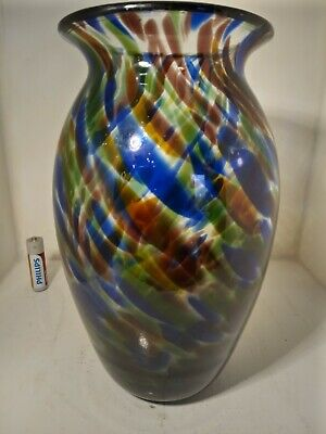 A  Fine Looking , Speckled , Hartley Wood Glass  Vase , Stamped To Base . • 49.95£