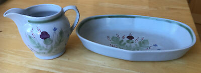 Buchan Stoneware Thistle 1pint Jug And Baking/ Pie Dish • 10£