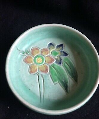 Bretby Art Pottery Dish,art Deco,arts/craft,early Piece,gc,signed,10cm Across • 19£