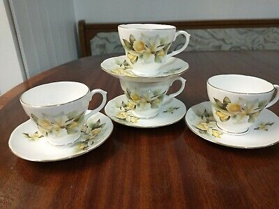 Orchid Vintage Duchess Bone China Tea Cups & Saucers X8 Piece Set Free Shipping • 13.99£