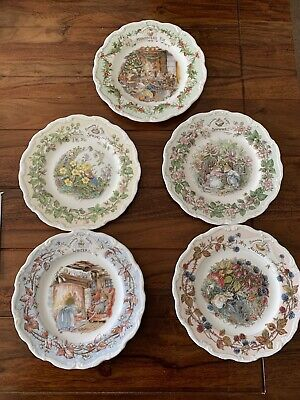 Royal Doulton Bramley Hedge Plates Plus Midwinters Eve • 50£