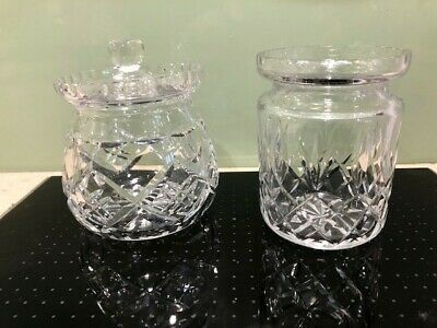 Edinburgh Cut Glass Crystal  Preserve Pot Plus Another With A Lid ; VGC • 4.99£