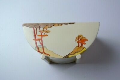 A Clarice Cliff Bowl In The Coral Firs Design. • 130£