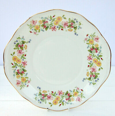 Vintage Colclough Hedgerow Bone China Floral Cake Plate  • 16.99£