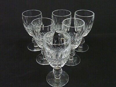 Set Of Six Waterford Crystal Glasses Colleen 4 1/4  Port / Sherry • 85£