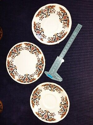Vintage Colclough Royale Bone China 2 Saucers And Small Plate • 9.99£
