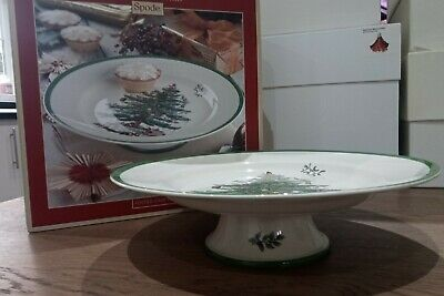 Spode Christmas Tree Footed Cake Plate • 31£