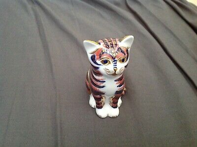 Royal Crown Derby (sitting Cat) Paperweight Gold Stopper No Reserve!! • 8.90£