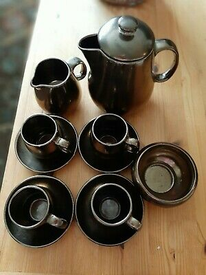 Prinknash Pottery Coffee Set  4 Setting • 4.99£
