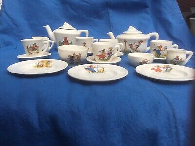 14 Piece Childs Vintage Nusery Rhyme Tea Set • 15£