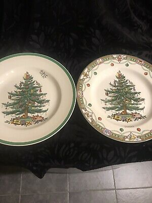 Spode Christmas Tree Plates 10.50 X 2 • 10£